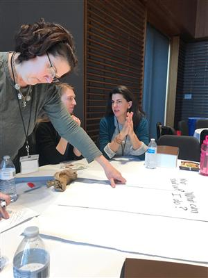 Photos of BSD2 teachers participating in arts integration professional development activities