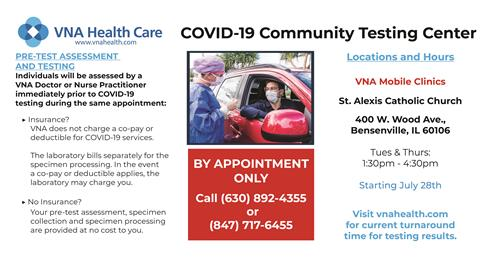 Image of VNS COVID-19 Testing Flyer