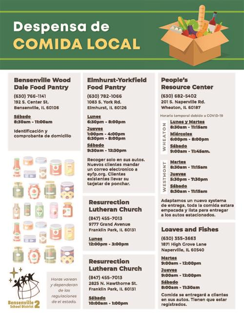 Image of Despensa de Comida Local flyer