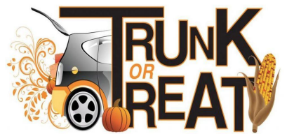 Clipart image that says Trunk or Treat