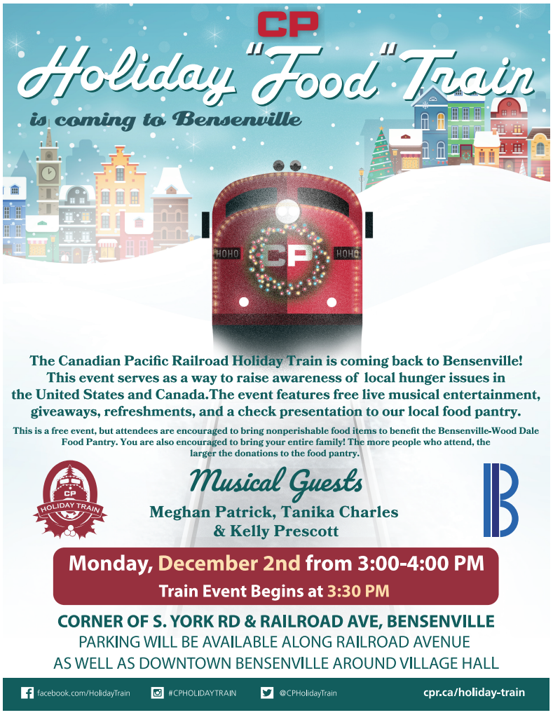 Image of the Canadian Pacific Holiday Train flyer
