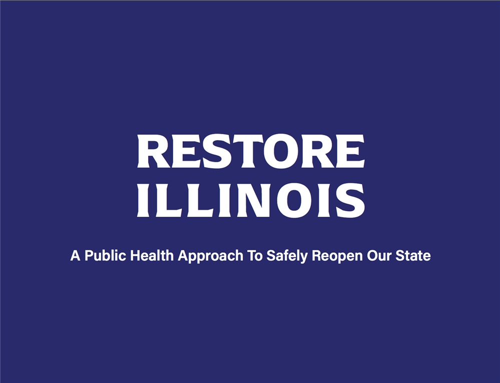 Image of the Restore Illinois logo
