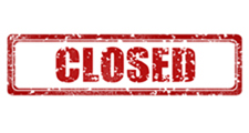 Clipart image that says CLOSED