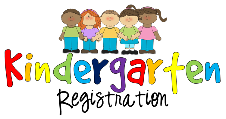 Image of a clipart kindergarten registration cartoon